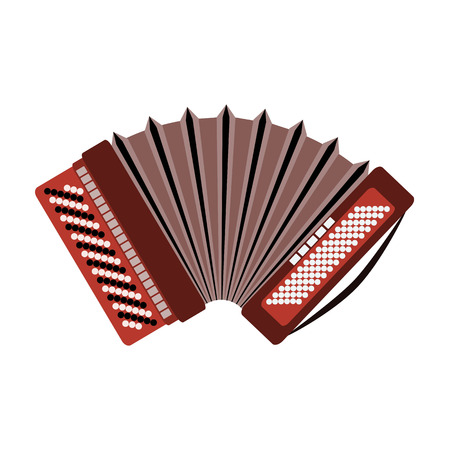 Harmonic icon. Russian accordion musical instrument isolated on a white background.