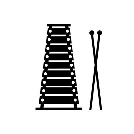 木琴のグッズ イラスト、白い背景で隔離。  イラスト・ベクター素材