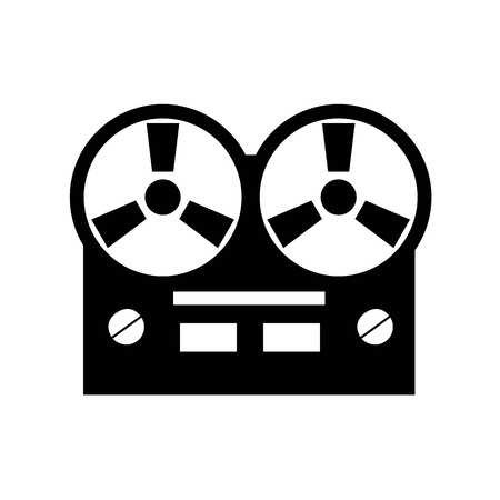 grabadora: Old reel tape recorder icon.