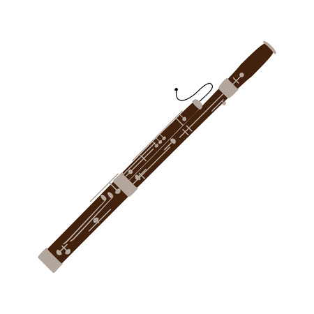 Bassoon icon, isolated on white background. Musical instrument icon.