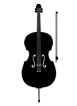 ?ello icon, isolated on white background. Musical instrument icon.