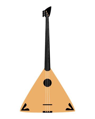 Balalaika icon, isolated on white background. Musical instrument icon.