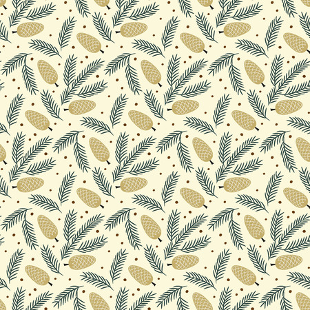 Christmas seamless pattern. Ilustrace