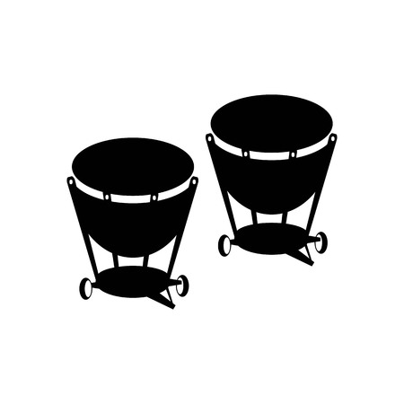 Percussion drum icon. Ethnic drum illustration.