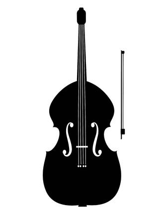contrabass: Contrabass black icon illustration. Illustration