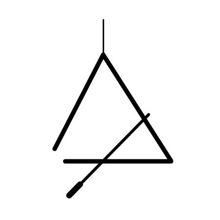 音楽の三角形のアイコンは、白い背景で隔離。
