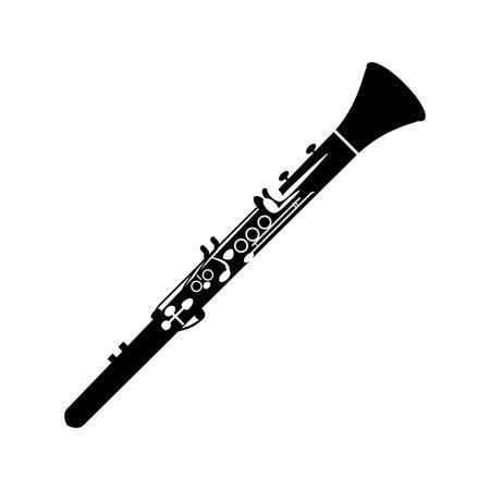 Icona del clarinetto sullo sfondo bianco. Archivio Fotografico - 68785142