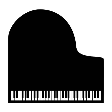 Piano black icon on the white background.