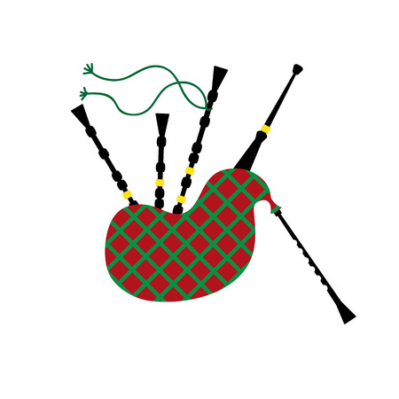 bagpipe: illustration of a bagpipe isolated on the white background. Illustration