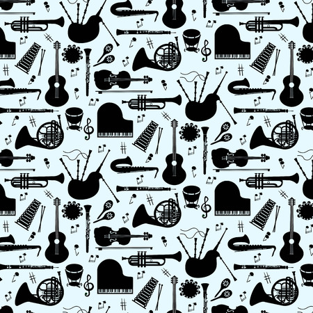 Musical instruments pattern icons