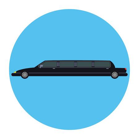Limousine icon,  flat design. Vector illustration.