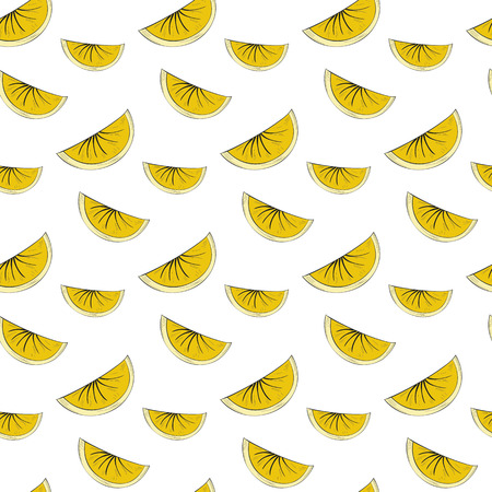 Seamless pattern with lime on the white background.