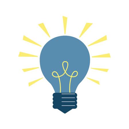 Light bulb icon on the white background. Vector illustration.