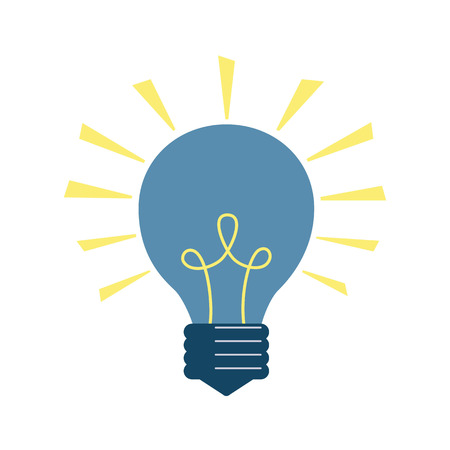 Light bulb icon on the white background. Vector illustration.