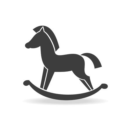 Horse toy icon on the white background. Vector illustration. Illustration