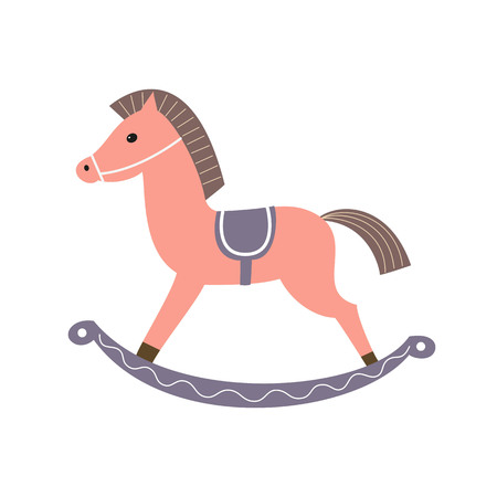 Horse toy icon on the white background. Vector illustration. Stock Vector - 77095176