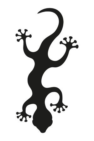 Silueta de lagarto Vectores