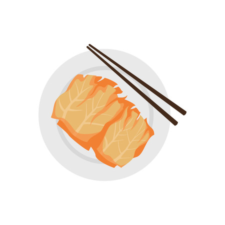 Korean kimchi icon on white background. Vector illustration Illustration