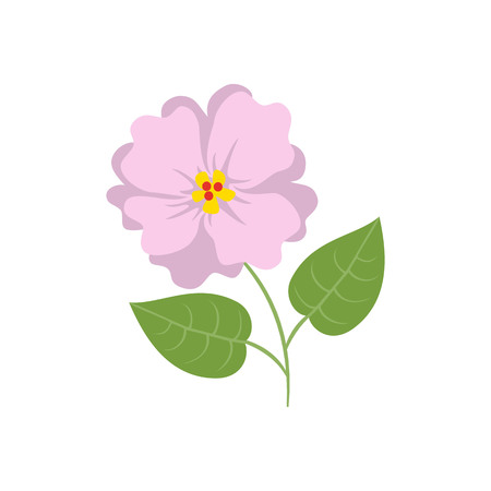 Hibiscus icon on the white background. Vector illustration.