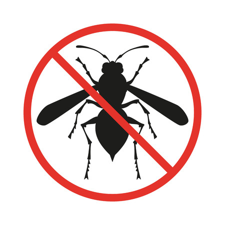 No insects sign on the white background. Vector illustration.