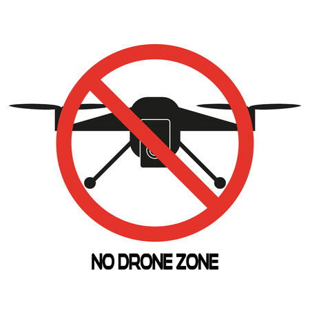 No drone sign on white background. Vector illustration.