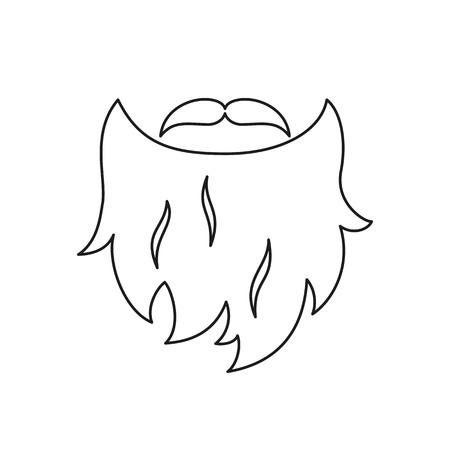 Beard isolated icon on white background. Vector illustration.