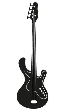 Elektrische gitaar op de witte achtergrond. Vector illustratie.