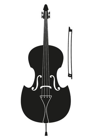 Ð¡ello icon on white background. Musical instrument icon. Vector illustration. Illustration