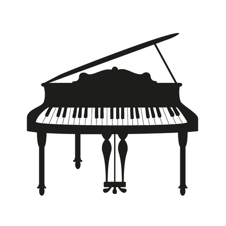 Piano on the white background. Vector illustration.