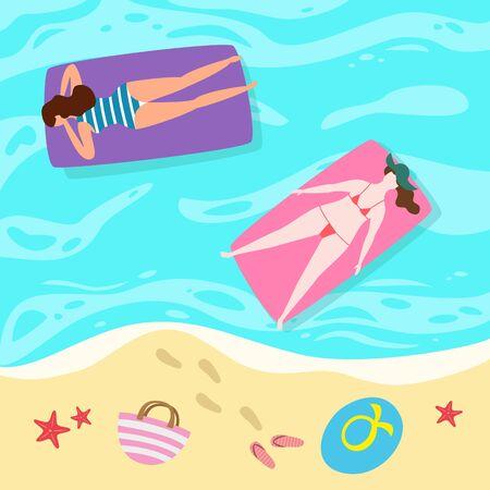 Cartoon background of sea shore. Ilustração