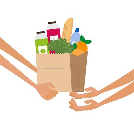 Grocery delivery service concept. Ilustração