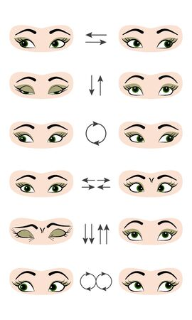 Set of exercises for the eyes.