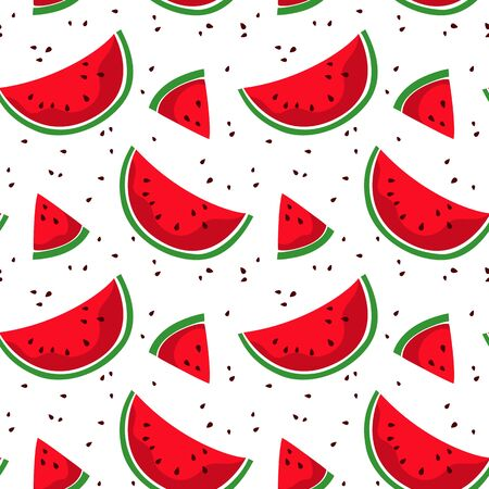 Seamless pattern with colorful watermelon.