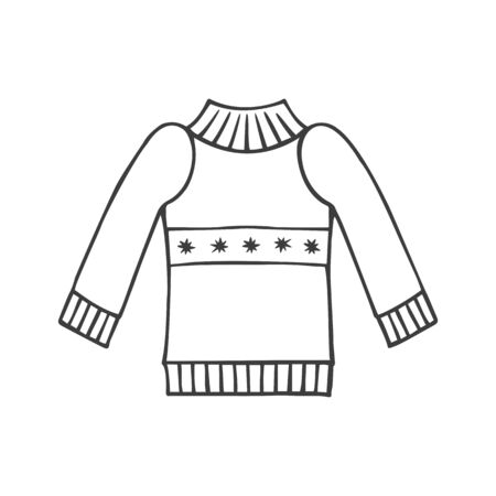 Sweater icon in doodle sketch style. Vector illustration. 일러스트