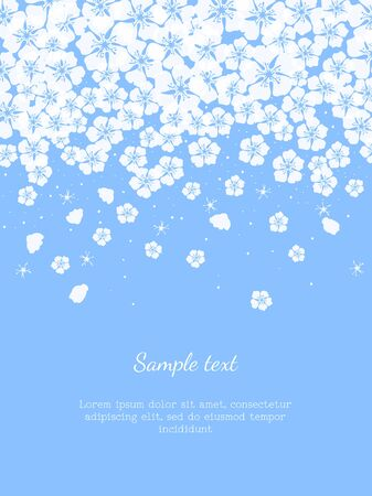 Cute background with flower blossom. Vector Illustration.
