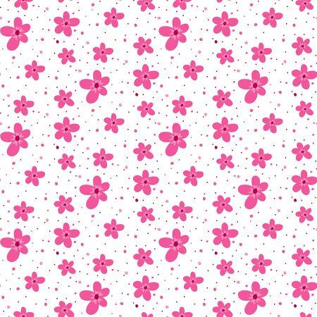 Seamless pattern with sakura blossom. Vector Illustration.