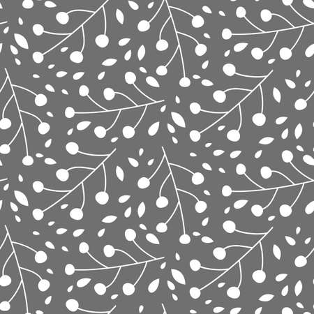 Seamless simple abstract floral pattern. Vector illustration.