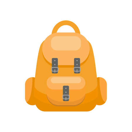Cute backpack on white background. Vector illustration.