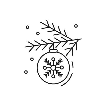 Ð¡hristmas toy icon on white background. New Year illustration. Vector illustration.
