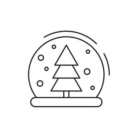 Christmas snow ball icon on white background. New Year illustration. Vector illustration. Stock Illustratie