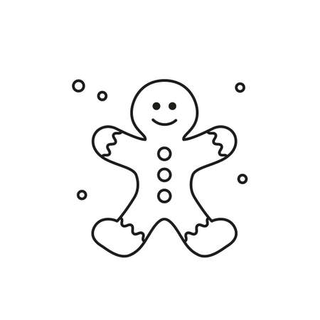 Gingerbread Man icon on white background. Vector illustration. Stock Illustratie