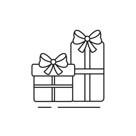 Gift box icon on white background. Vector illustration. Stock Illustratie