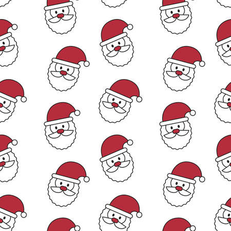 Seamless pattern with Santa Claus. Vector illustration.