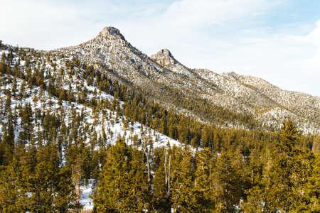 winter time: Spring Mountains around Las Vegas in winter time, Nevada, USA