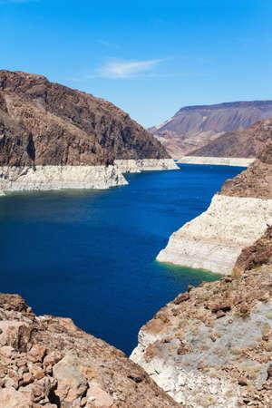 Lake mead from Hoover Dam near Boulder city, Arizona, USA Stock Photo