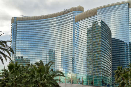 aria: Las Vegas - January 30: The Aria Resort and Casino in Las Vegas on January 30, 2016. The Aria is the worlds largest hotel to receive LEED gold certification.