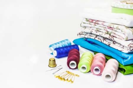 Set of objects for needlework. The composition of elements for sewing