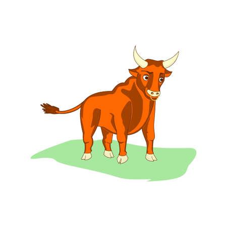 ungulate: very nice bull walks across the meadow