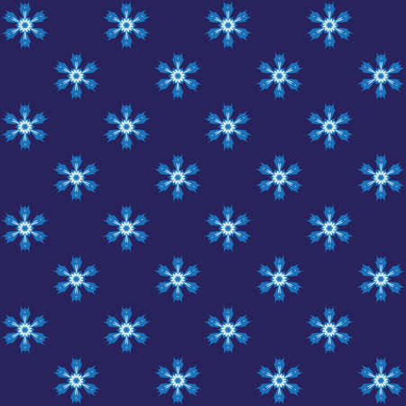 spiny: Blue spiny snowflake wrapping. Blue seamless background.