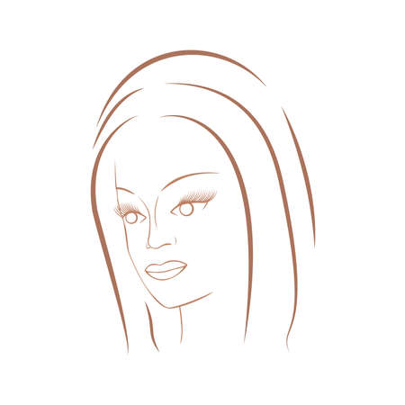 beautiful face: Face of a beautiful girl. For cosmetics and fashion. Illustration